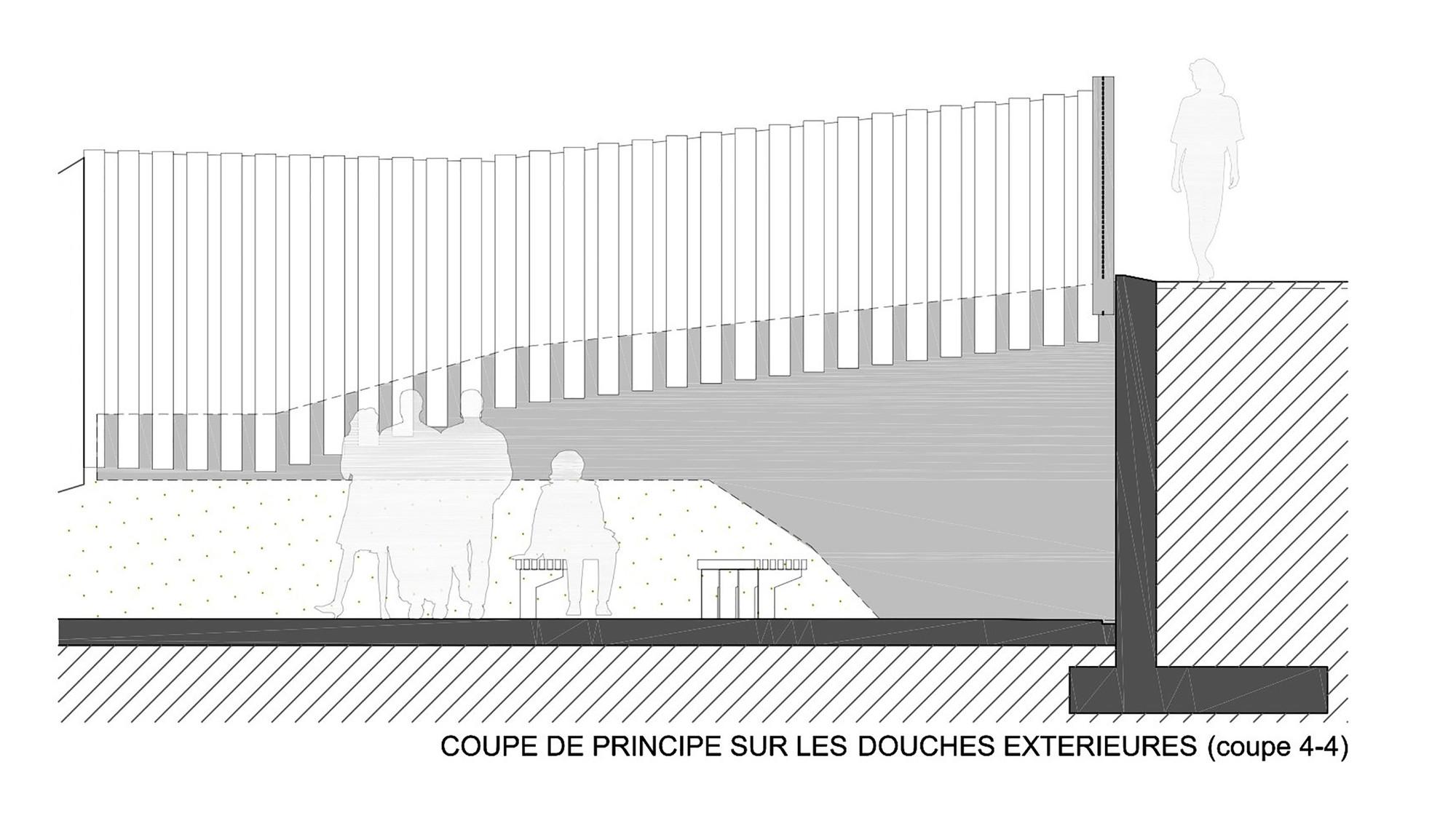 gallery of th tre d 39 eau swimming pool log architectes 23. Black Bedroom Furniture Sets. Home Design Ideas