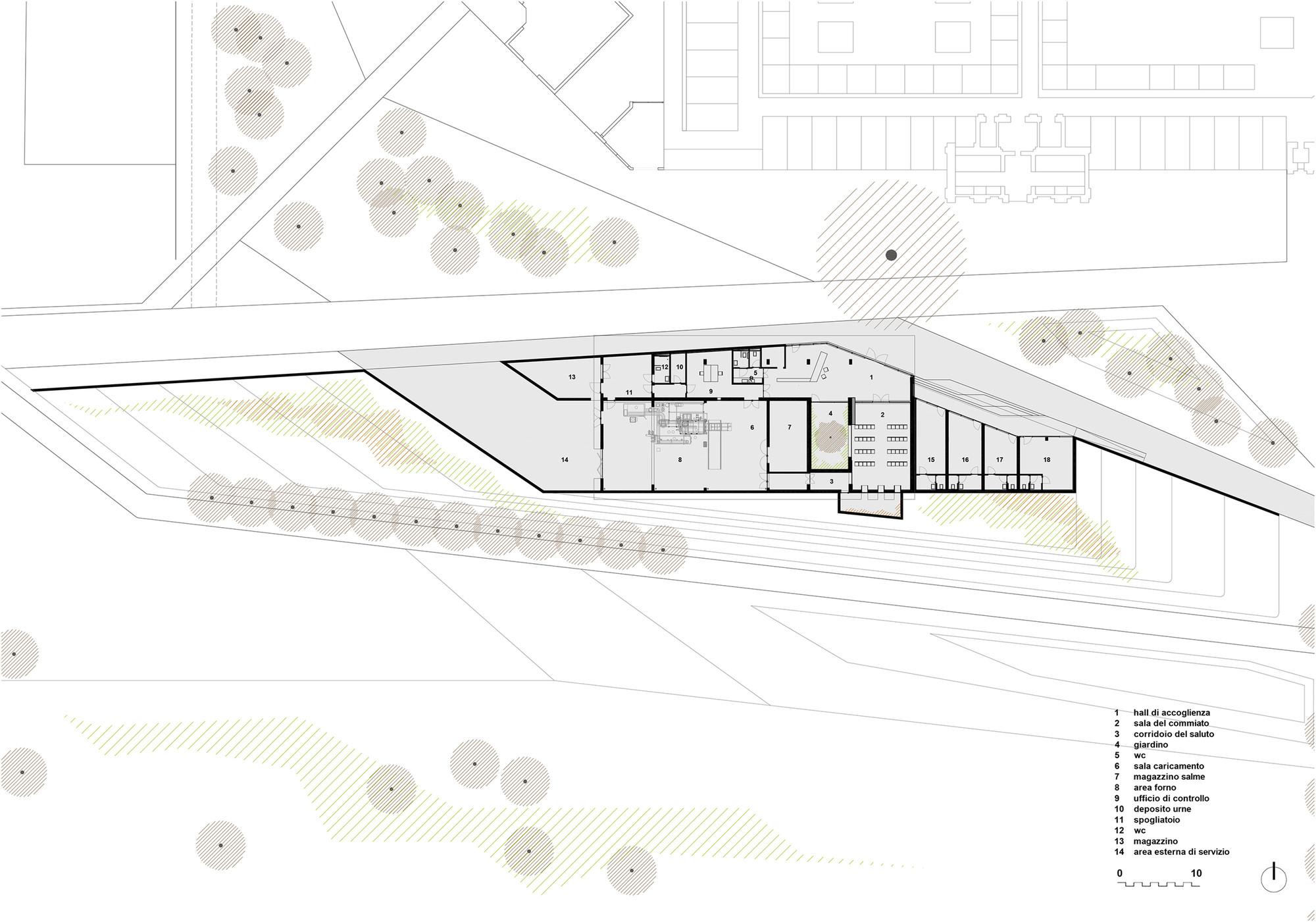 Typical Floor Plan New Crematorium In Copparo Patrimonio Copparo Archdaily