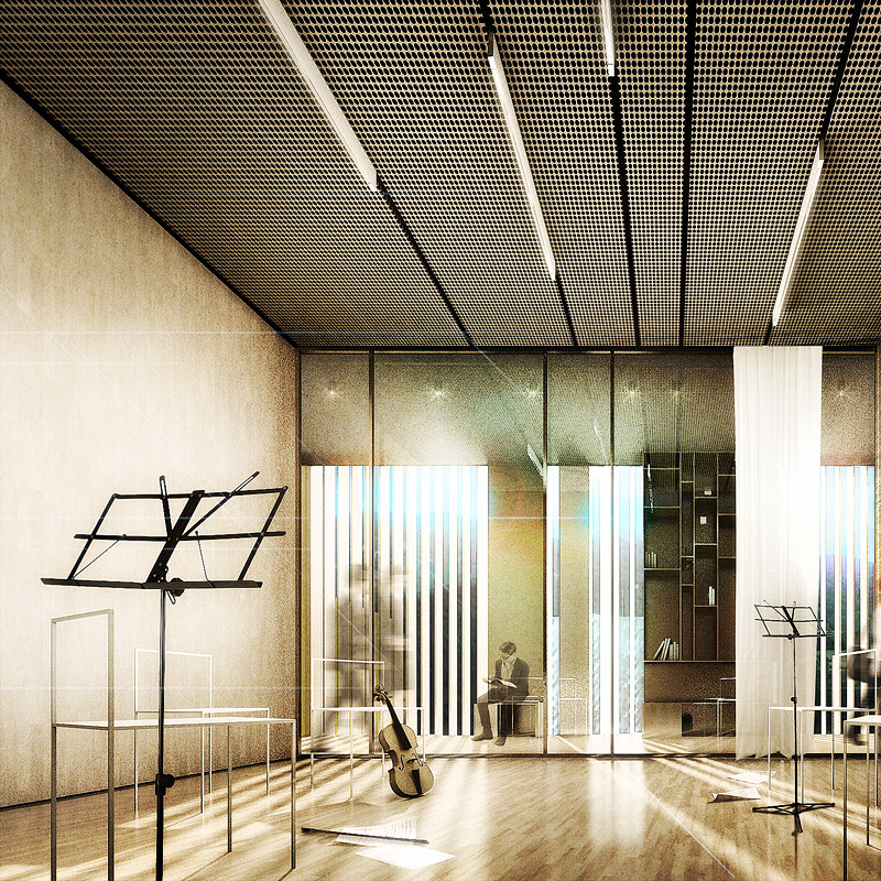 Minimalist Classroom Music : Gallery of competition entry tomas ghisellini proposes