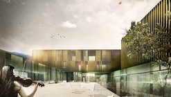 "Competition Entry: Tomas Ghisellini Proposes ""Supernova"" School of Music for Bressanone"