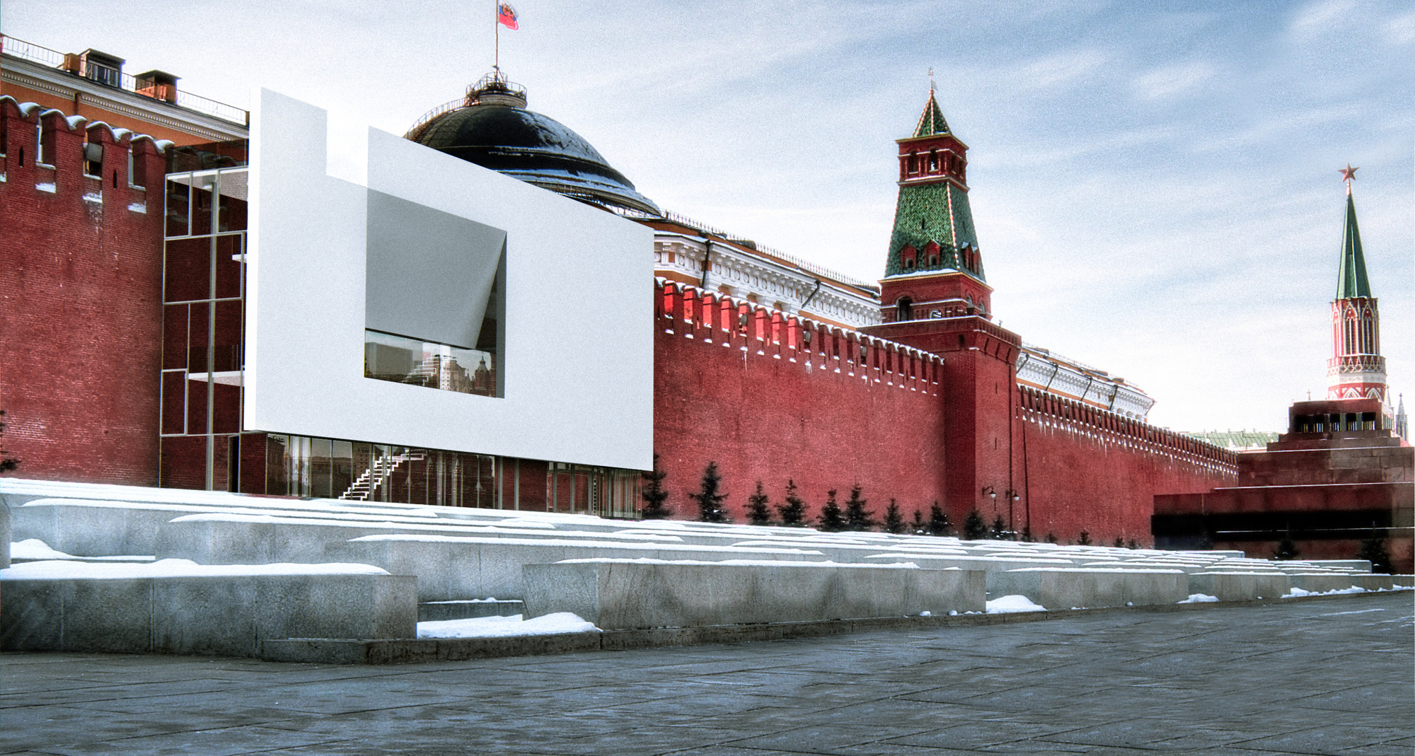 Red Square Tolerance Pavilion Competition Winners Unveiled, Space-ing Walls. Image Courtesy of HMMD