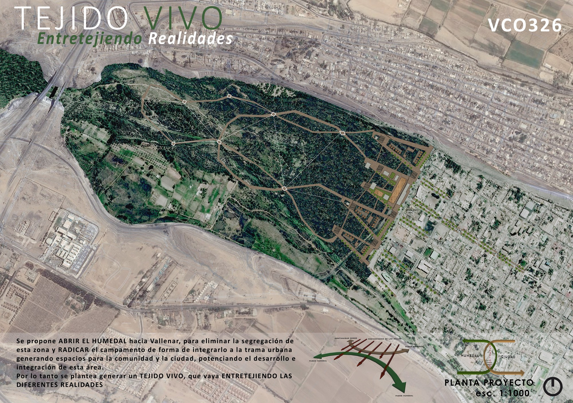 Tercer Lugar: Lámina #01. Image Cortesia de TECHO - Chile