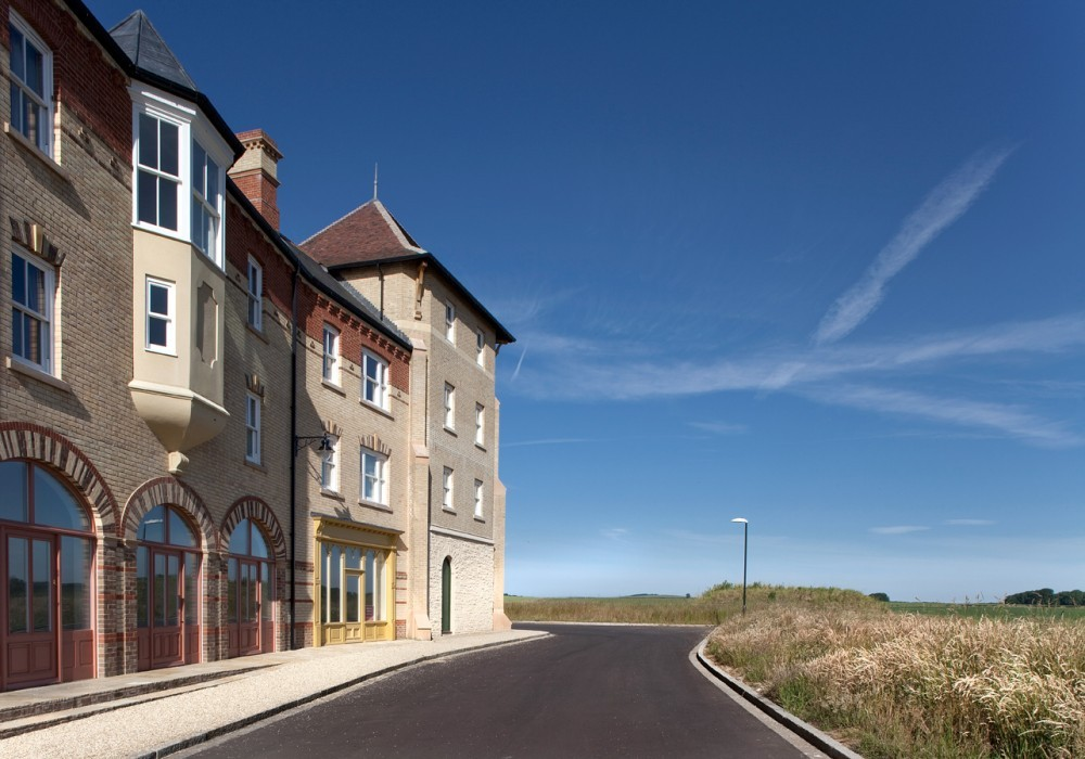 Poundbury, Prince Charles' pet project, has been criticized for being moribund, boring, and soulless. Image © Andy Spain