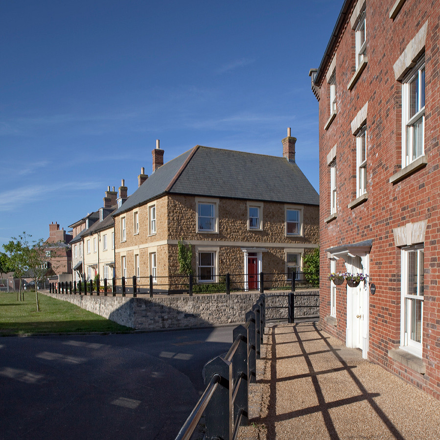The critics of modern architecture tend towards espousing New Urbanist principles, like those employed in the construction of Poundbury. Image © Andy Spain