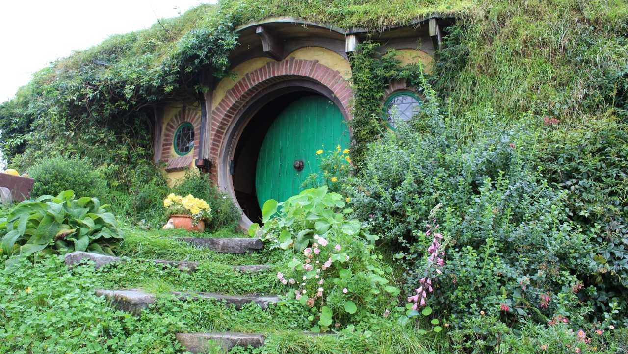"Through the Lens: The Social Implications of Green Roofs in Film, ""Hobbiton,"" the home of the virtuous Hobbits. Image © www.bonvoyadventuretravel.com"