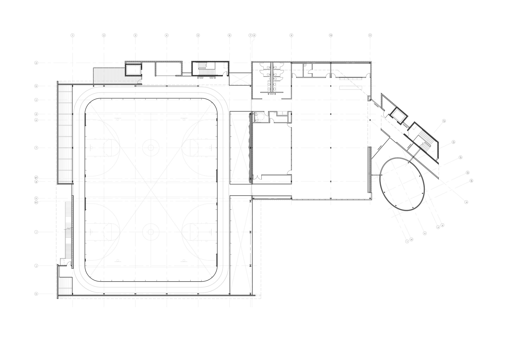 Gallery of sport and fitness center for disabled people for Fitness center floor plan