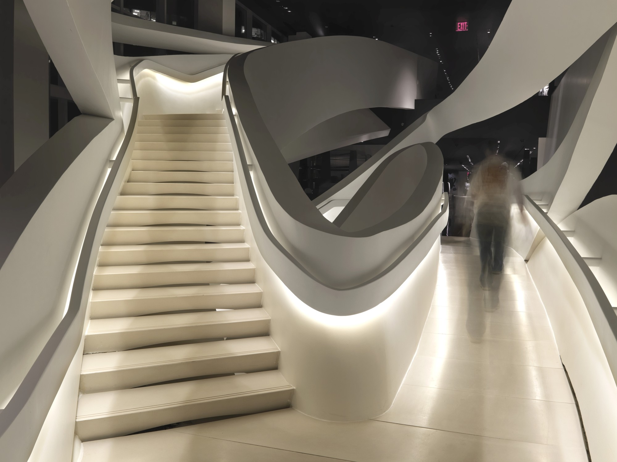 Armani Fifth Avenue, New York. Architect: Fuksas Architects. Lighting design: Speirs + Major. Photo: Allan Toft. Image © Speirs + Major