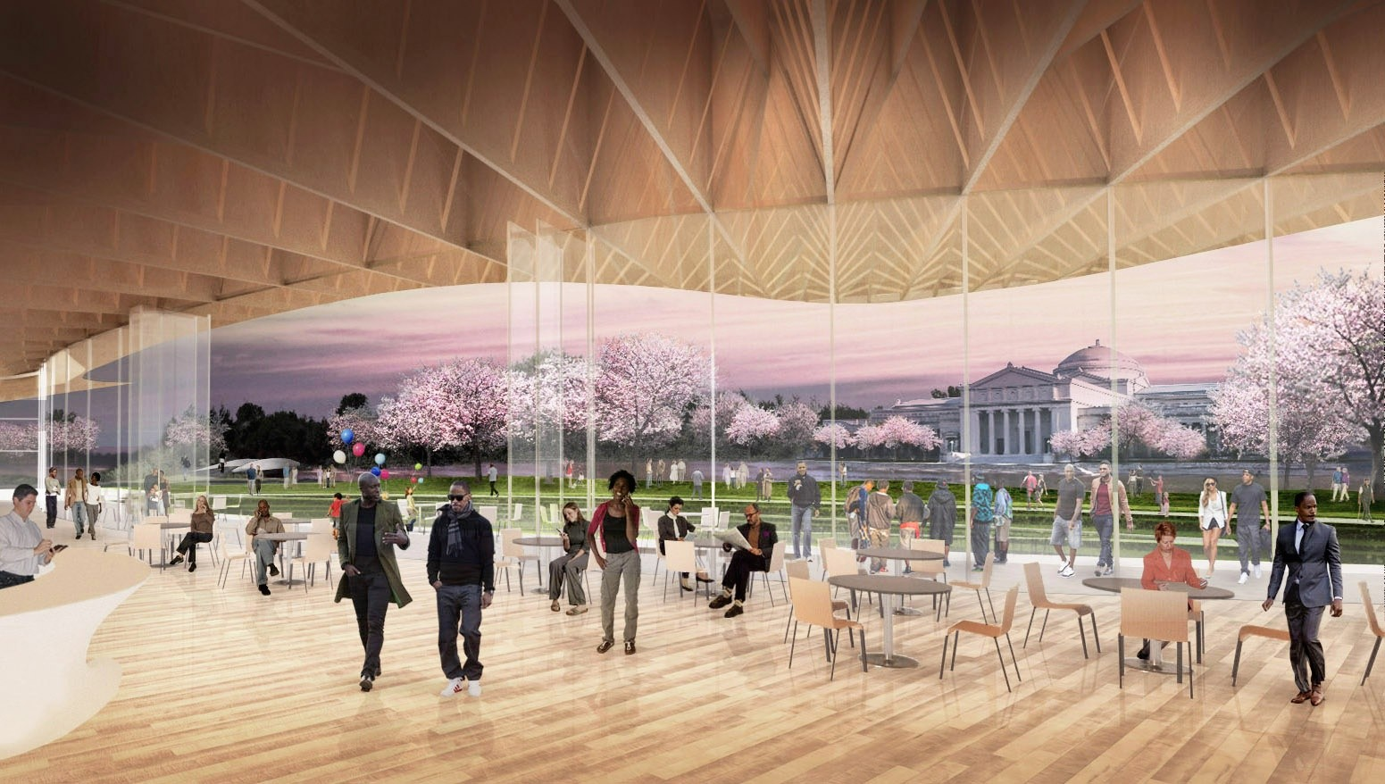 Pavilion Interior. Image Courtesy of Project 120 Chicago