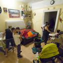 SITU documentation of Jackson Heights apartment shared by nine people. Image © Jeyhoun Allebaugh