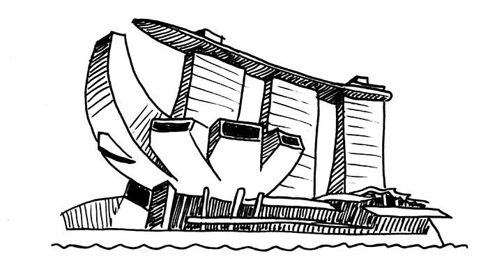 Safdie Architects. Marina Bay Sands. Singapore