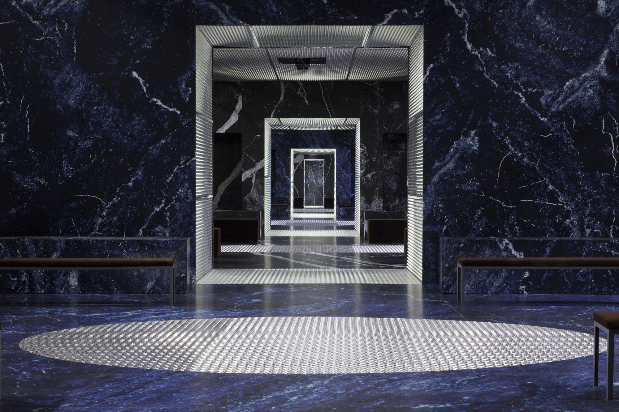 "Prada Launches FW2015 Menswear in OMA/AMO's ""Infinite Palace"" , © Agostino Osio; OMA and Prada"