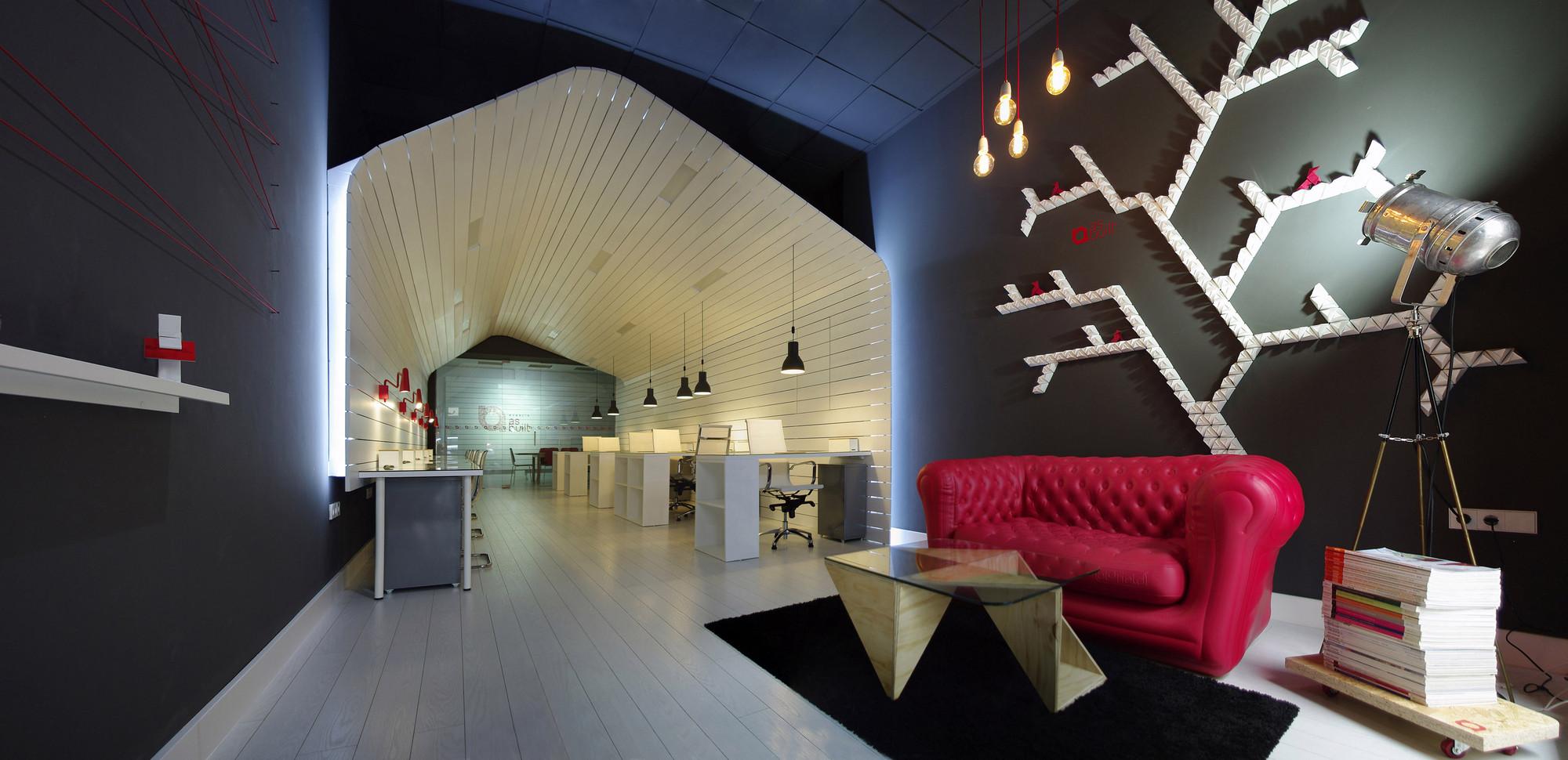 Oficina para arquitectos y espacio de coworking as for Oficina coworking