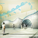 "A proposal for a ""cooling pavilion"" designed with a hydroceramic skin. Image Courtesy of IAAC Institute for Advanced Architecture of Catalonia"