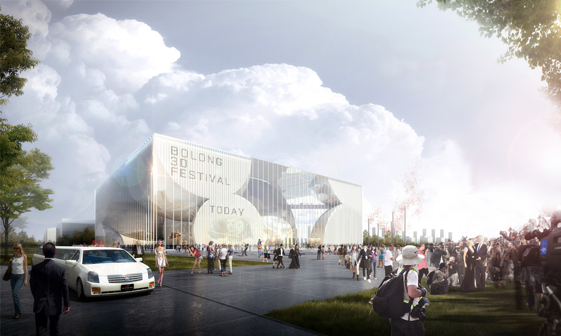 Competition Entry: HAO + AI Envision Bolong 3D Movie Museum and Mediatek for Tianjin, Courtesy of HAO