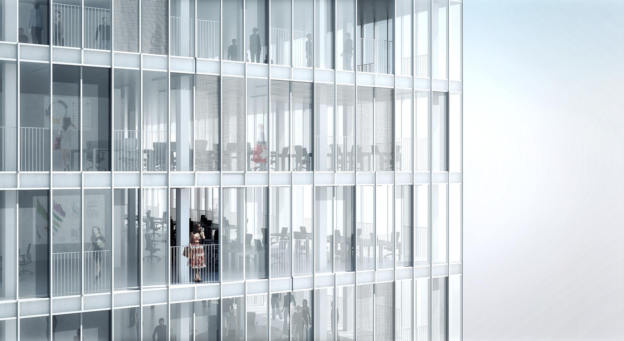 Oficinas. Imagen © MVRDV