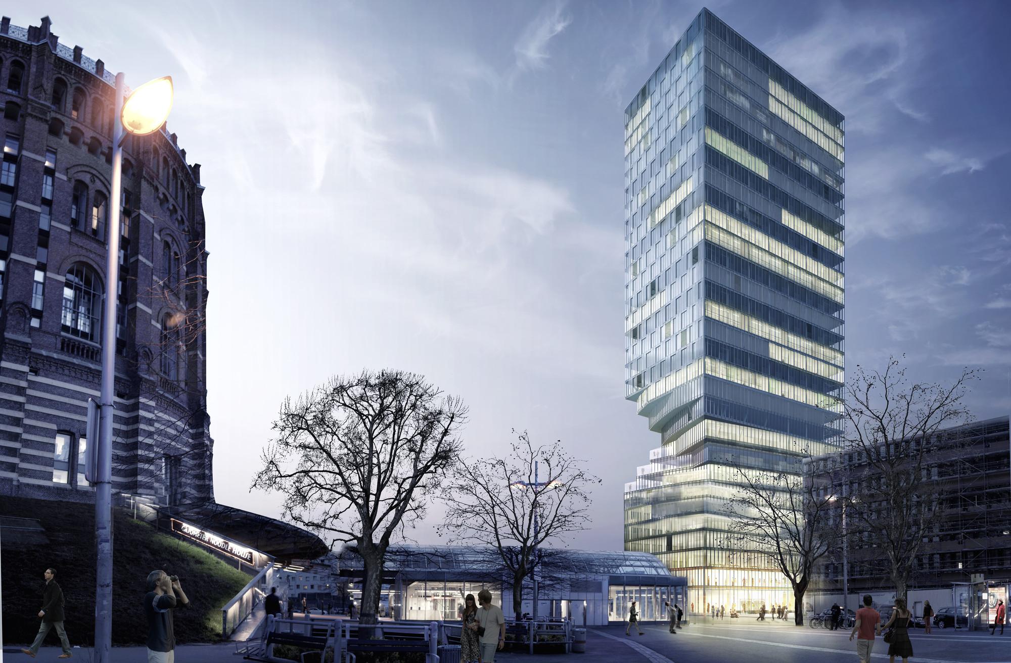 MVRDV gana concurso para construir torre 'torcida' en Viena, © MVRDV