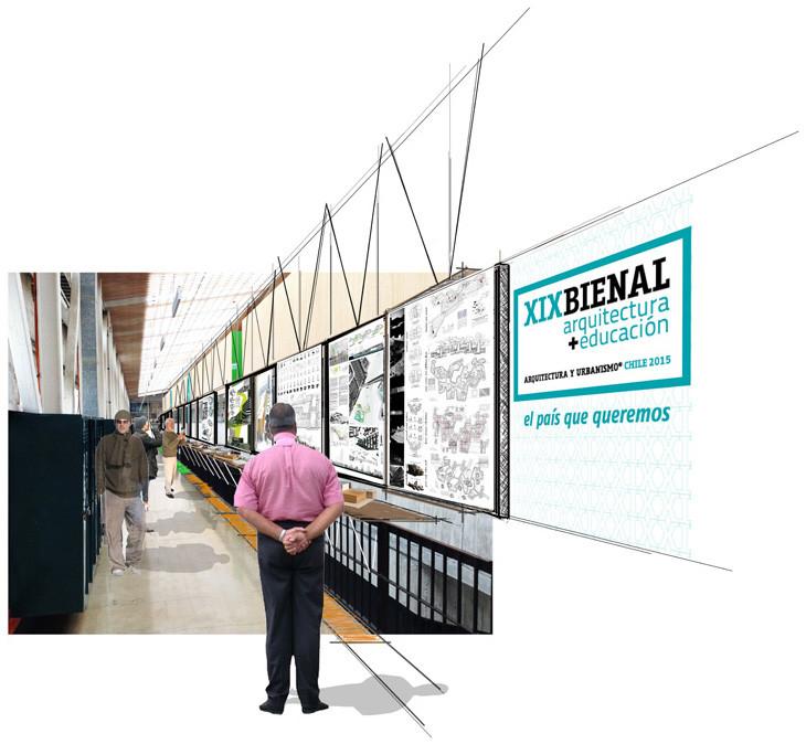 XIX Bienal de Arquitectura y Urbanismo Chile 2015: una bienal con énfasis ciudadano, Montaje. Image Cortesia de Grupo de Arquitectura Caliente
