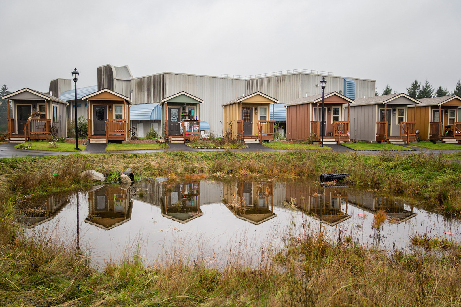 Tiny-House Villages: Safe Havens for the Homeless, Quixote Village. Image © Leah Nash for BuzzFeed