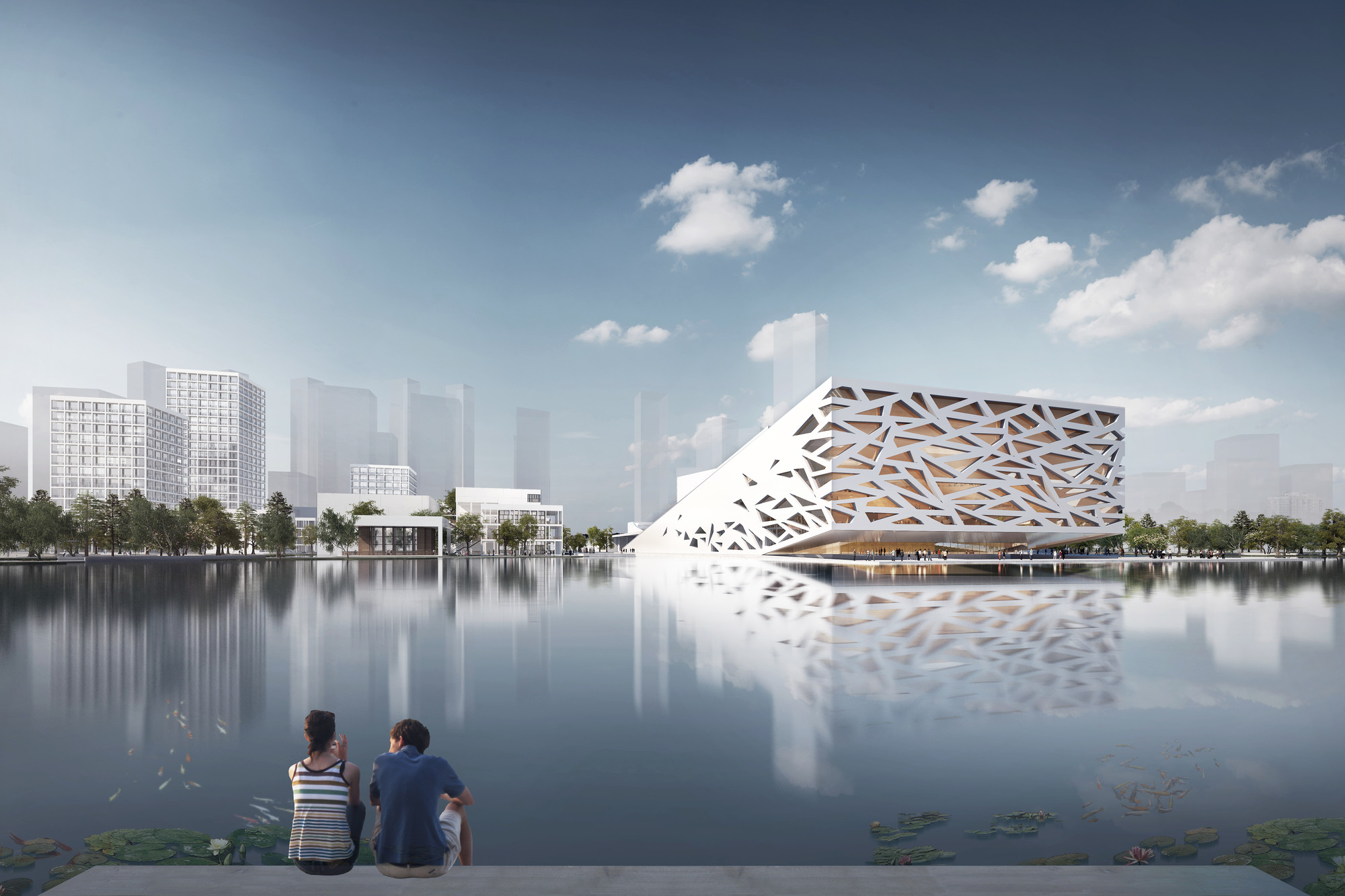 First Images Released of Henning Larsen Architects' Yuhang Opera, © Henning Larsen Architects