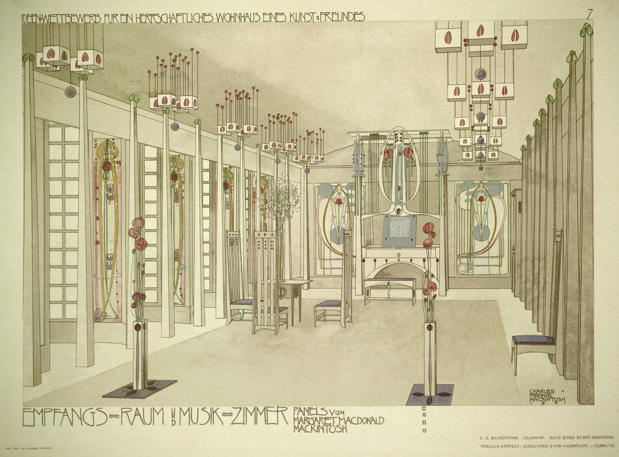 Charles Rennie Mackintosh Exhibition To Open Next Month In London, Design For A House For An Art Lover (1901). Image © RIBA Library