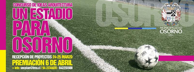 """Convocatoria al concurso de ideas de arquitectura """"Un Estadio Para Osorno"""" / Chile"""
