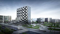 Paolo Venturella-Designed Office Building to Feature Rotating Parametric Pixels