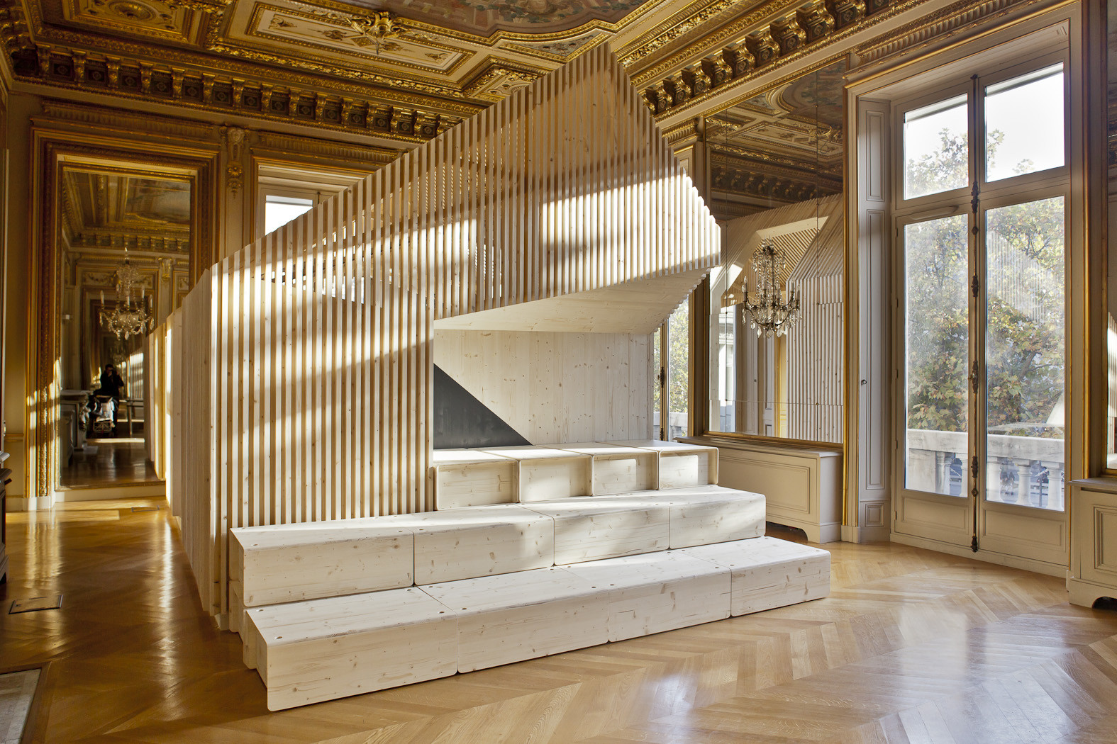 Diseño para la oficina Ekimetrics / Estelle Vincent Architecture, © Arnaud Schelstraete
