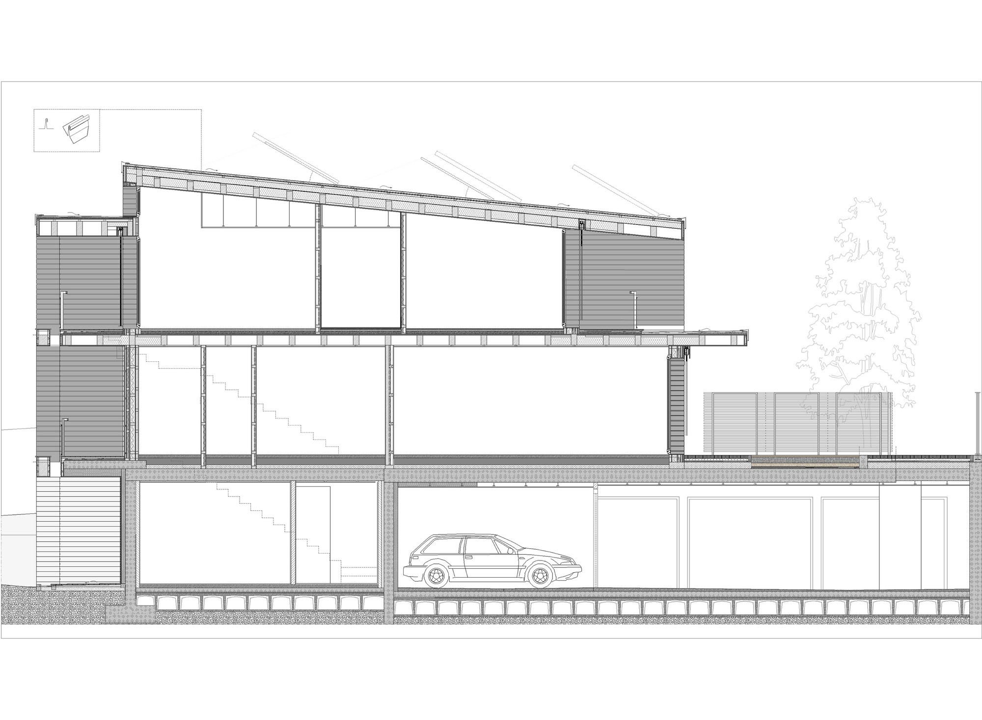 Wood Construction Section ~ Residential wood building in selvino camillo botticini