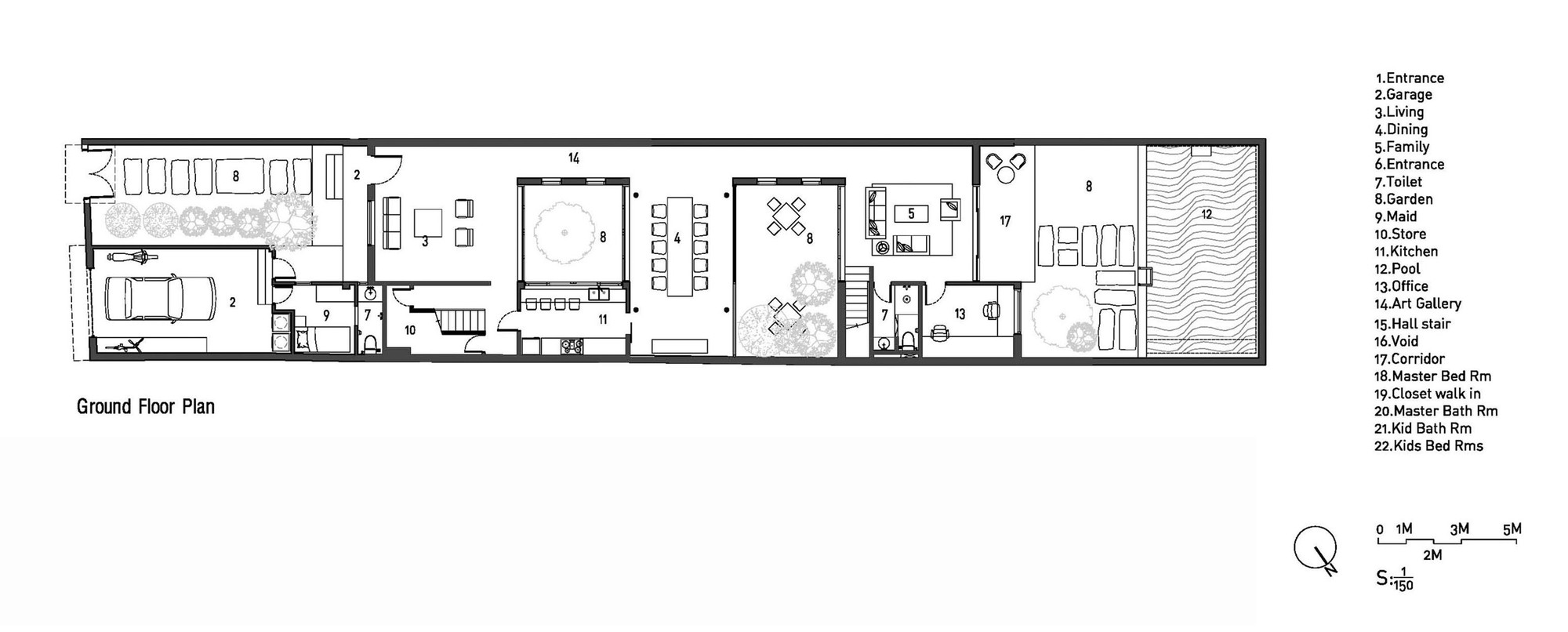 modern home layout plan