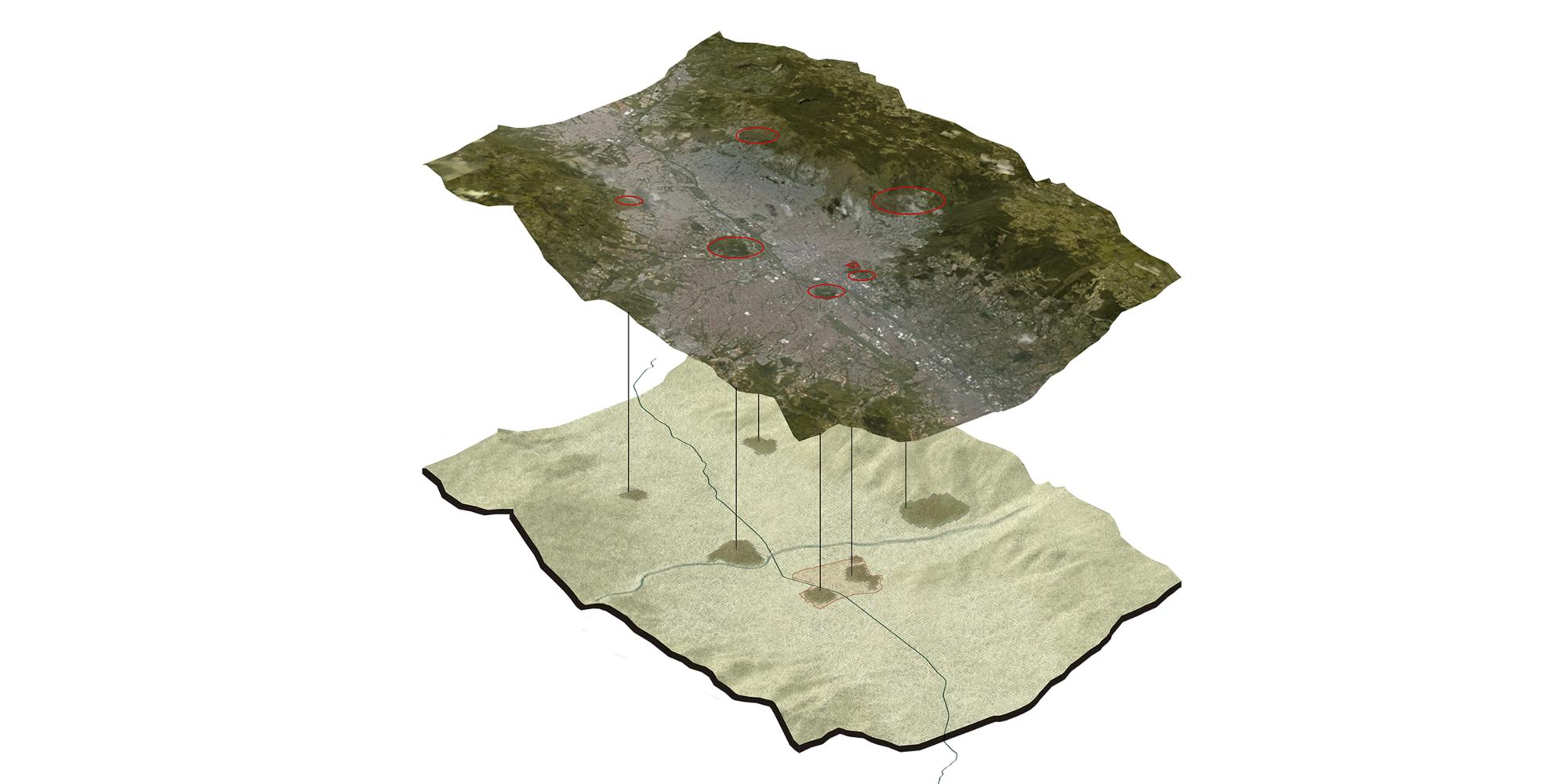 Geografía y ciudad. Image Cortesia de Equipo Primer Lugar