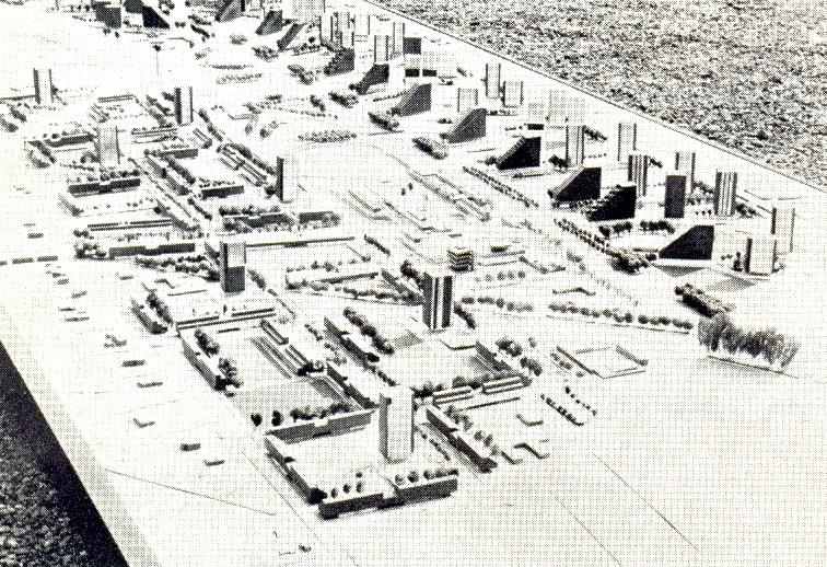 Maqueta del Conjunto 1968. Image Cortesia de AUCA 21