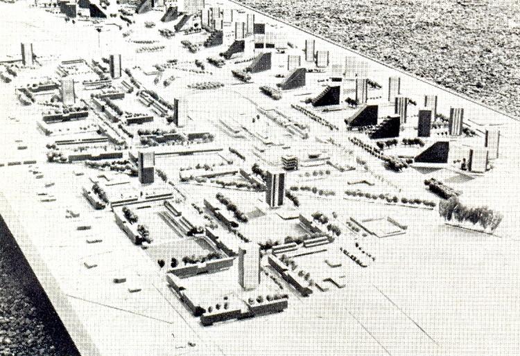 Maqueta del Conjunto 1968. Image Cortesía de AUCA 21