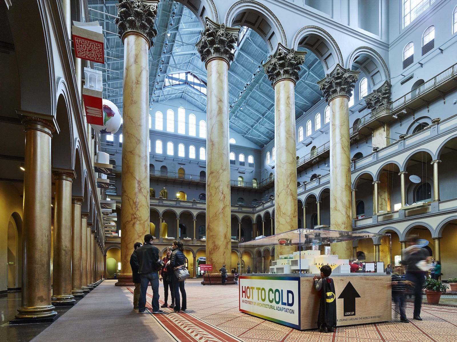 """HOT TO COLD: BIG's """"Odyssey of Architectural Adaptation"""" Opens at the National Building Museum , © Matt Carbone"""