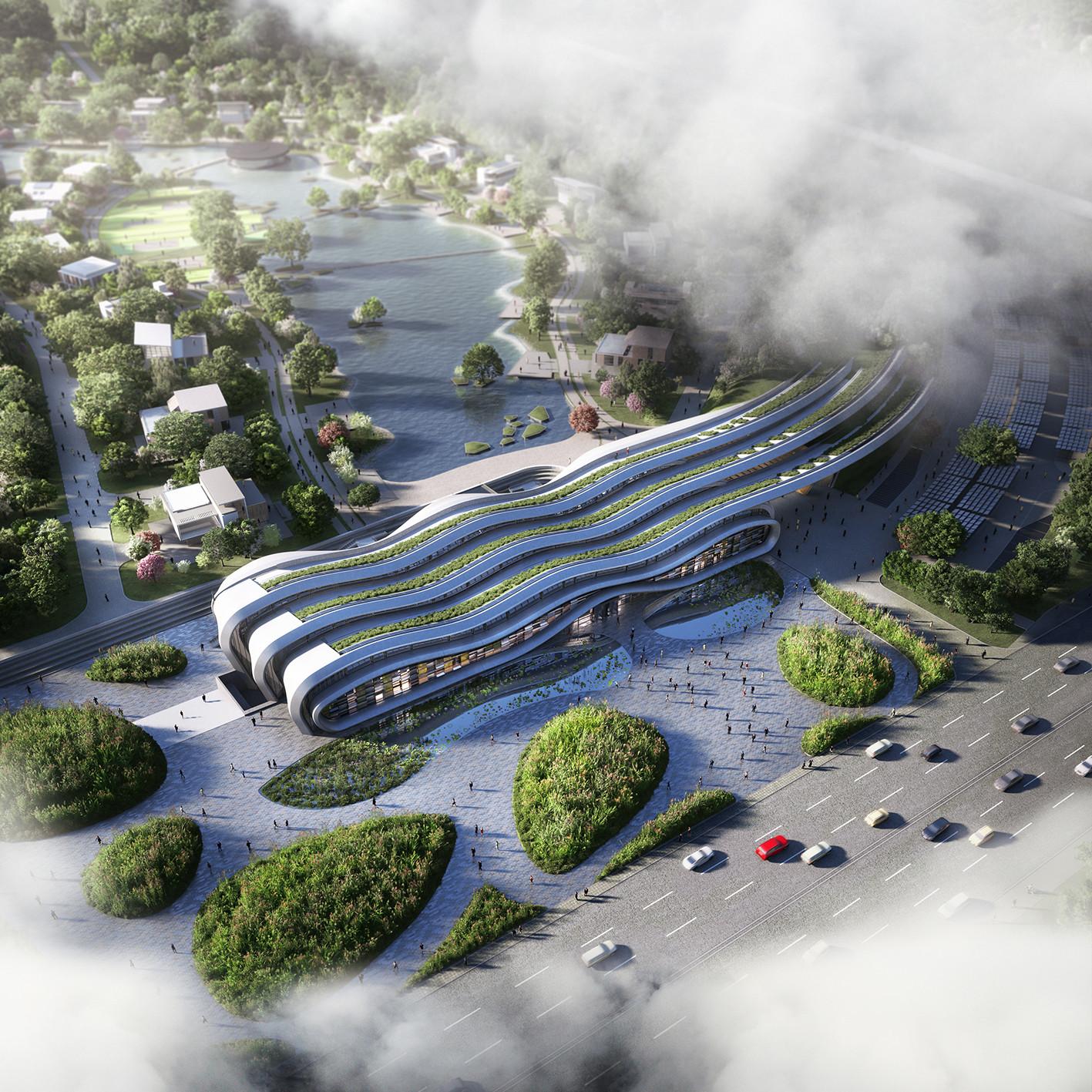 Beijing Green Building Park . Image © Wilder Associates