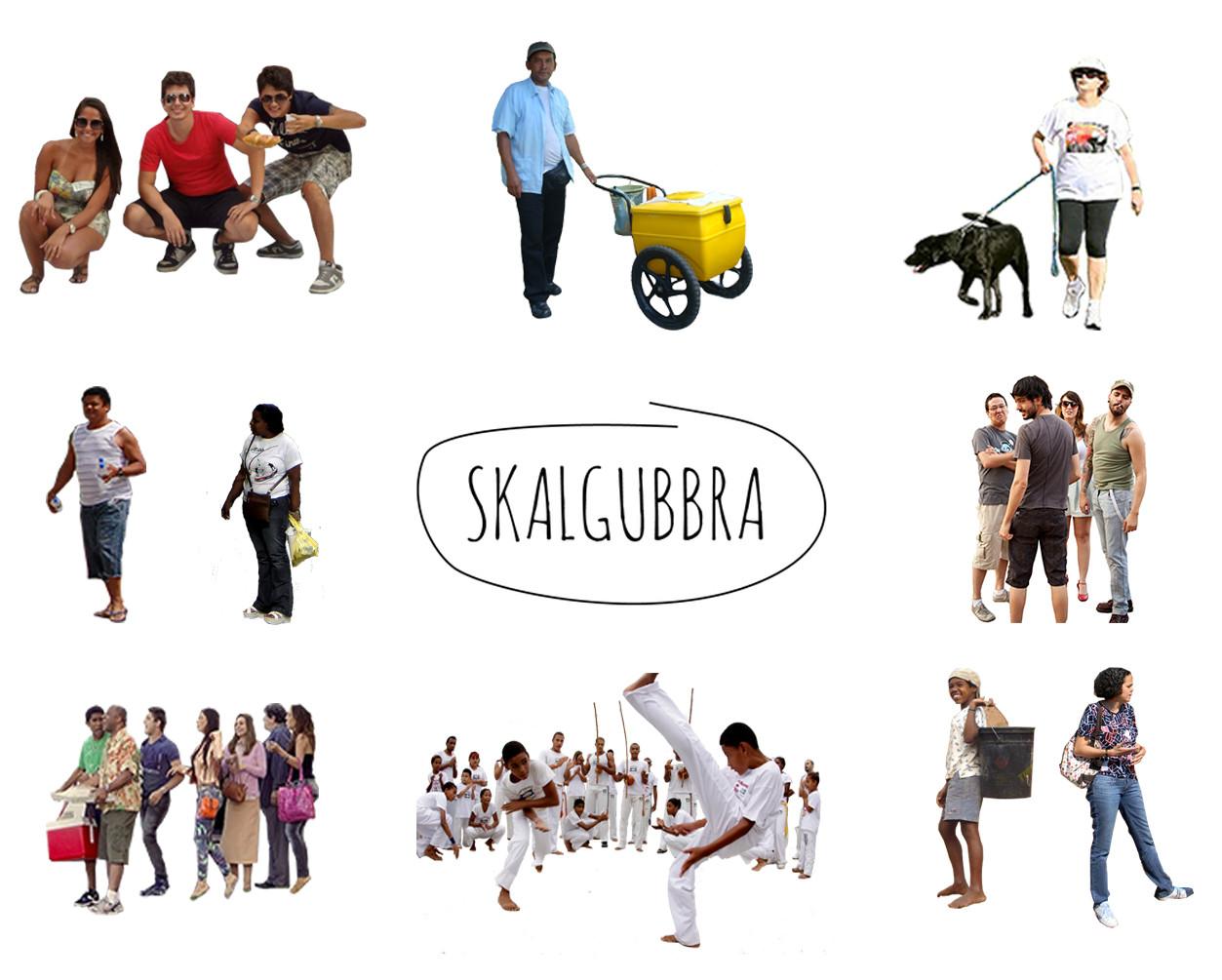 SKALGUBBRASIL, escalas humanas (realmente) brasileñas, Cortesía de Micrópolis