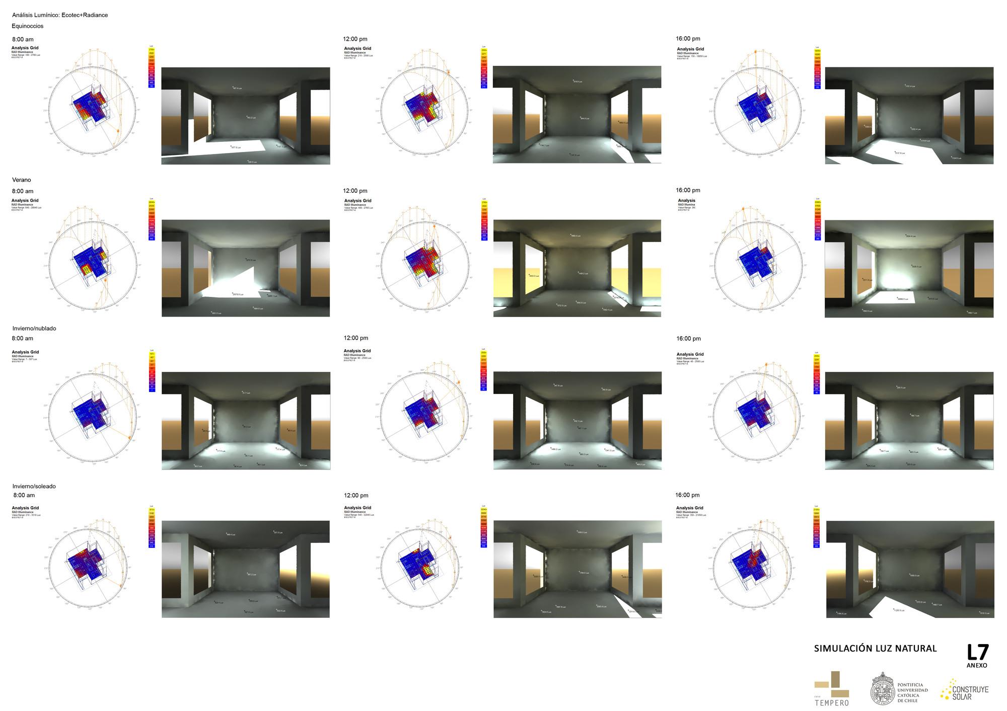 Lámina #07: simulación de luz natural. Image Cortesia de Equipo TLC331