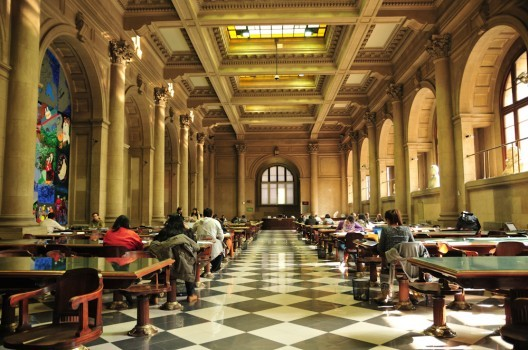 """Chile: Biblioteca Nacional es elegida entre las 50 bibliotecas """"más majestuosas"""" del mundo por A&D, © Biblioteca Nacional © Teresita Pérez para Plataforma Urbana"""
