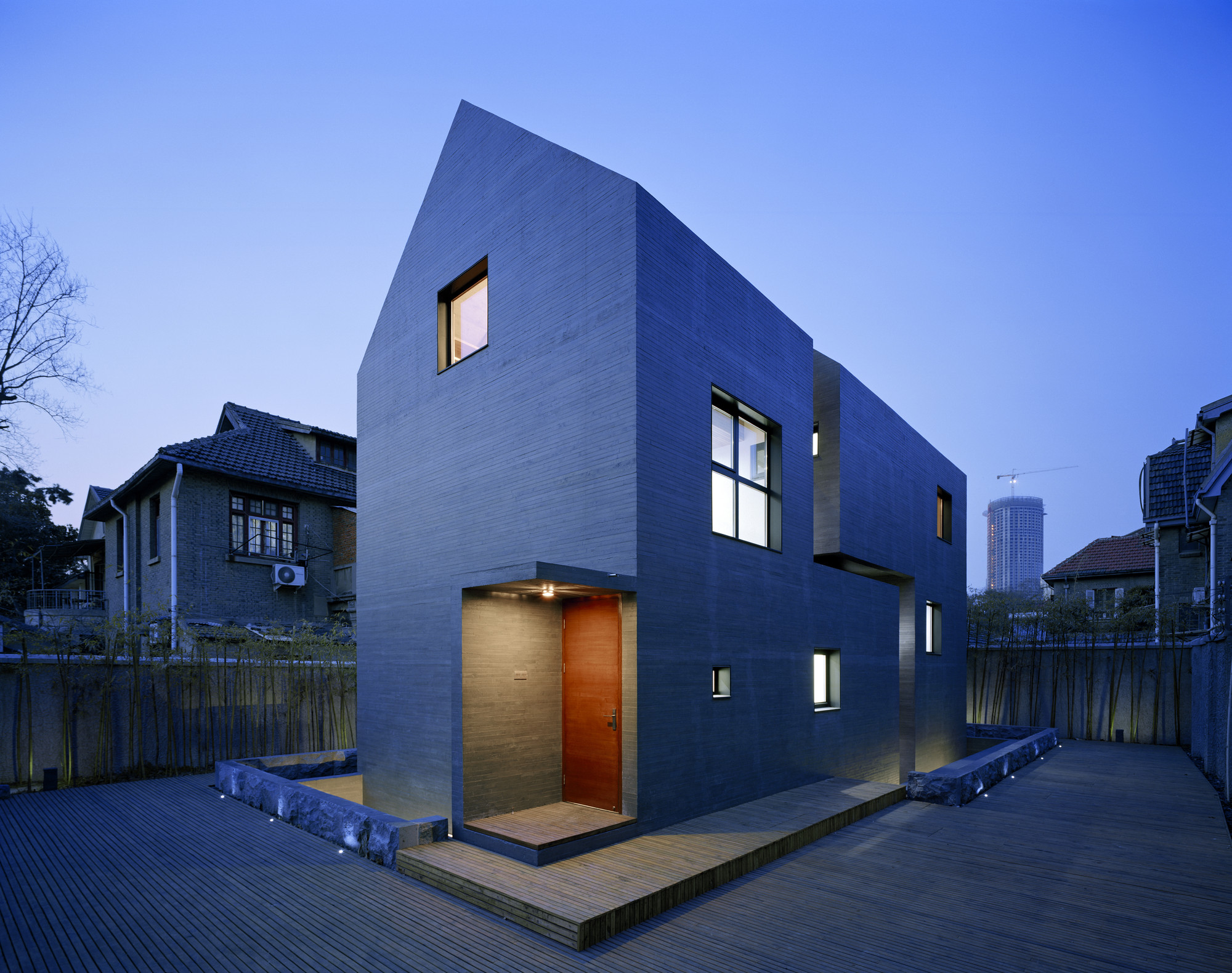 Slit House Azl Architects Concrete : An interview with zhang lei azl architects archdaily