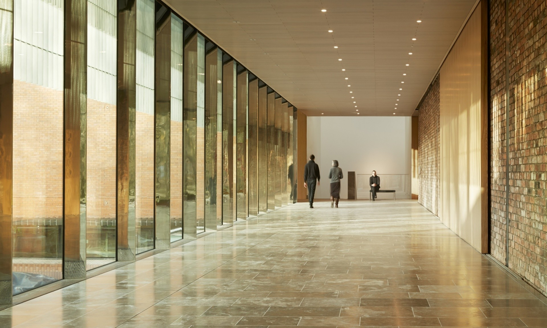 Rowan Moore On MUMA's Extension To Manchester's Whitworth Art Gallery, The sun drenched interior promenade. Image Courtesy of The Whitworth