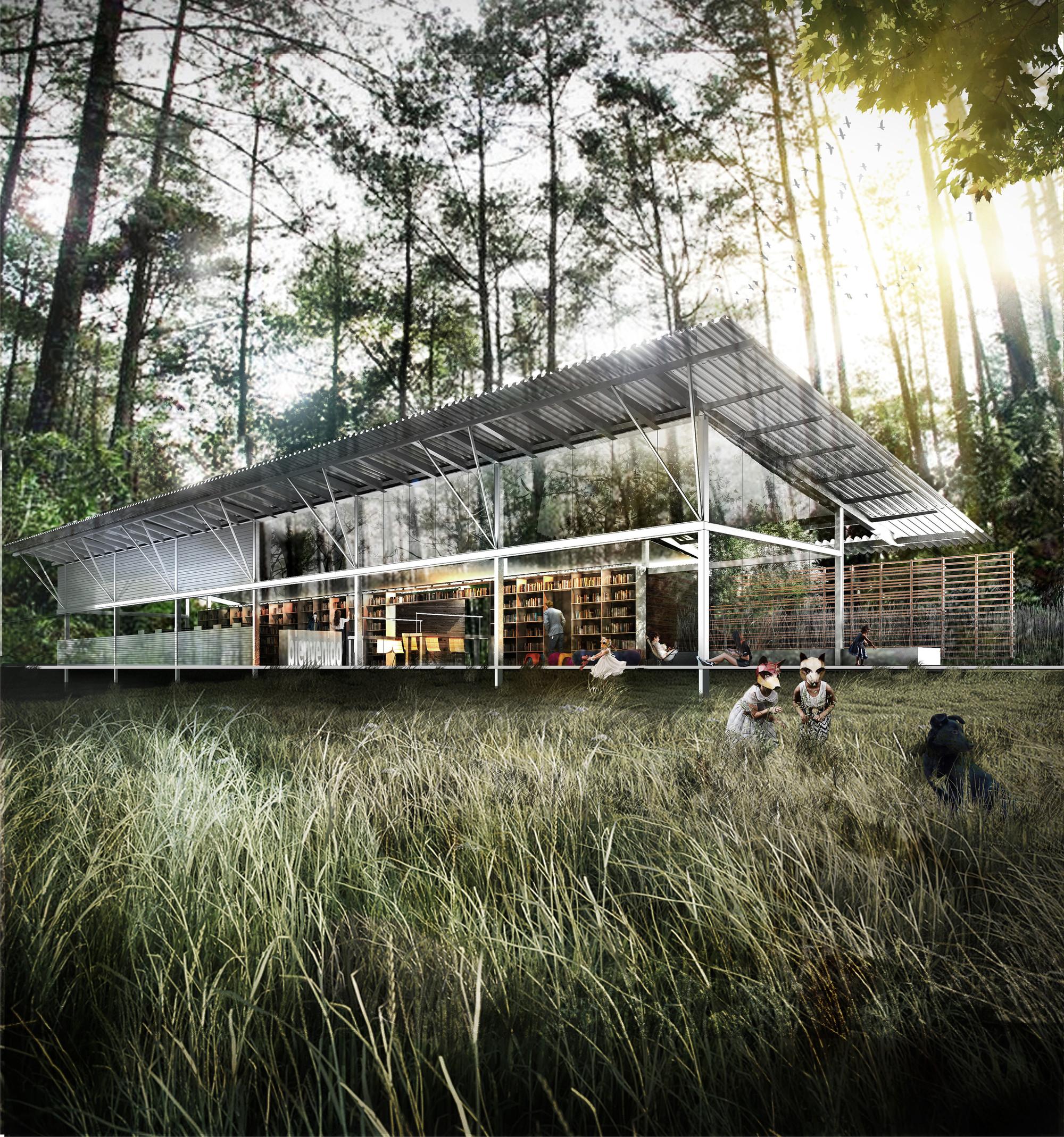 Segundo Lugar en concurso de ideas para la Biblioteca Daniel Vidart / Uruguay, Cortesia de Equipo Segundo Lugar