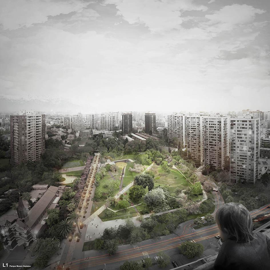 Vista áerea del proyecto ganador. Image Cortesia de BBATS + TIRADO