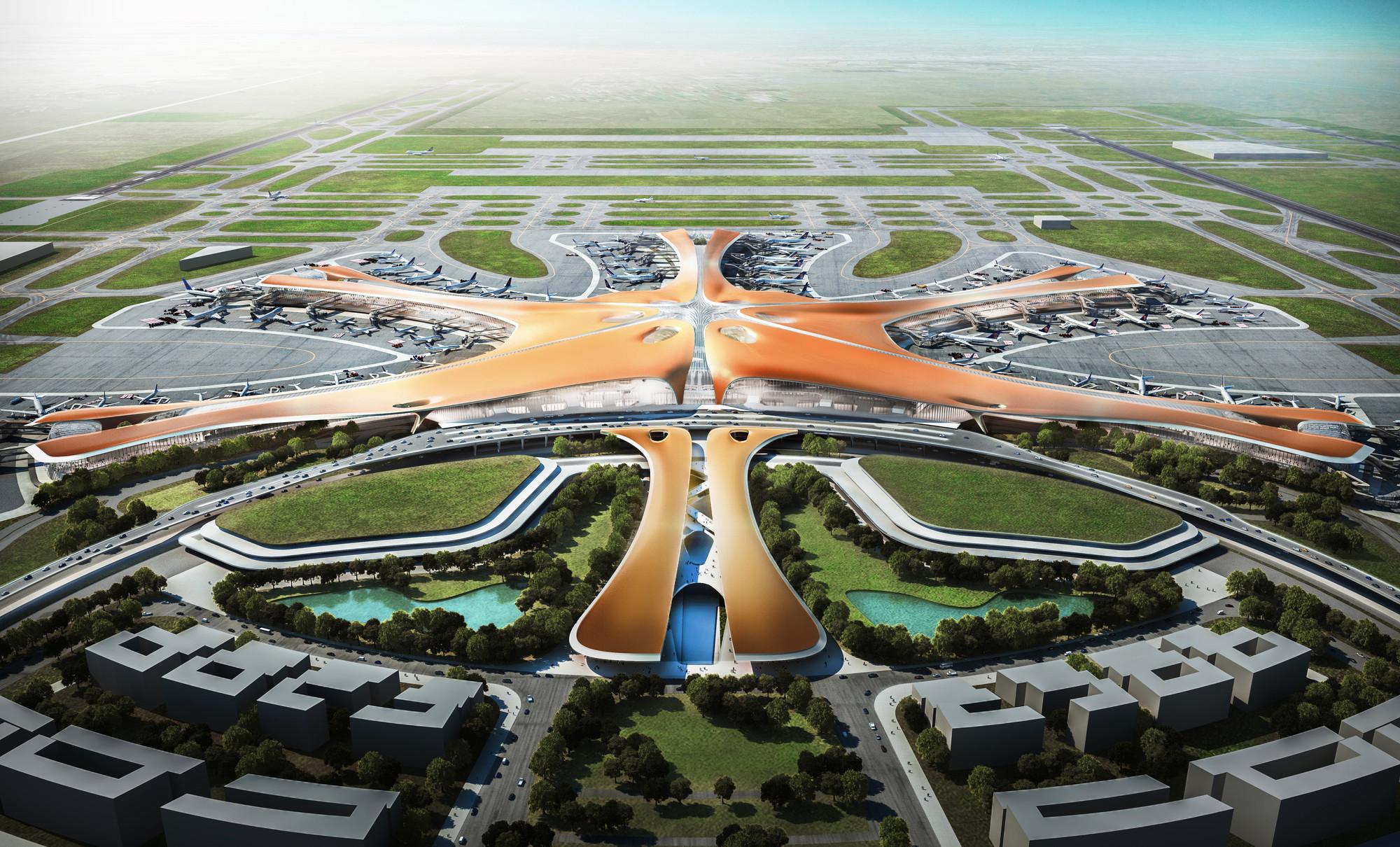 Zaha Hadid y ADPI revelan planes para el terminal de pasajeros más grande del mundo en Beijing, © ZHA / Methanoia