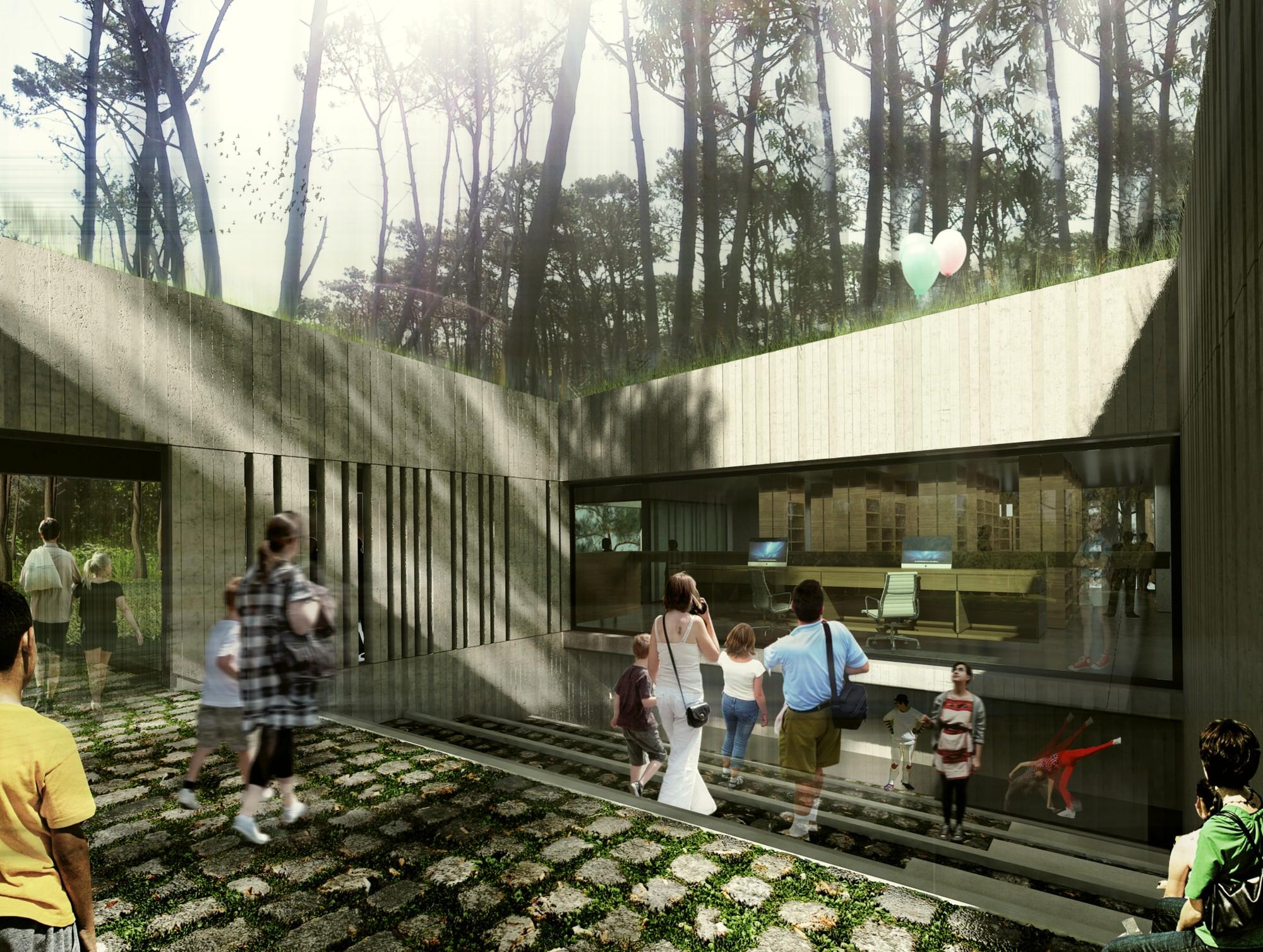 MBAD Arquitectos, Mención Honrosa en concurso de ideas para la Biblioteca Daniel Vidart / Uruguay , Cortesia de MBAD Arquitectos