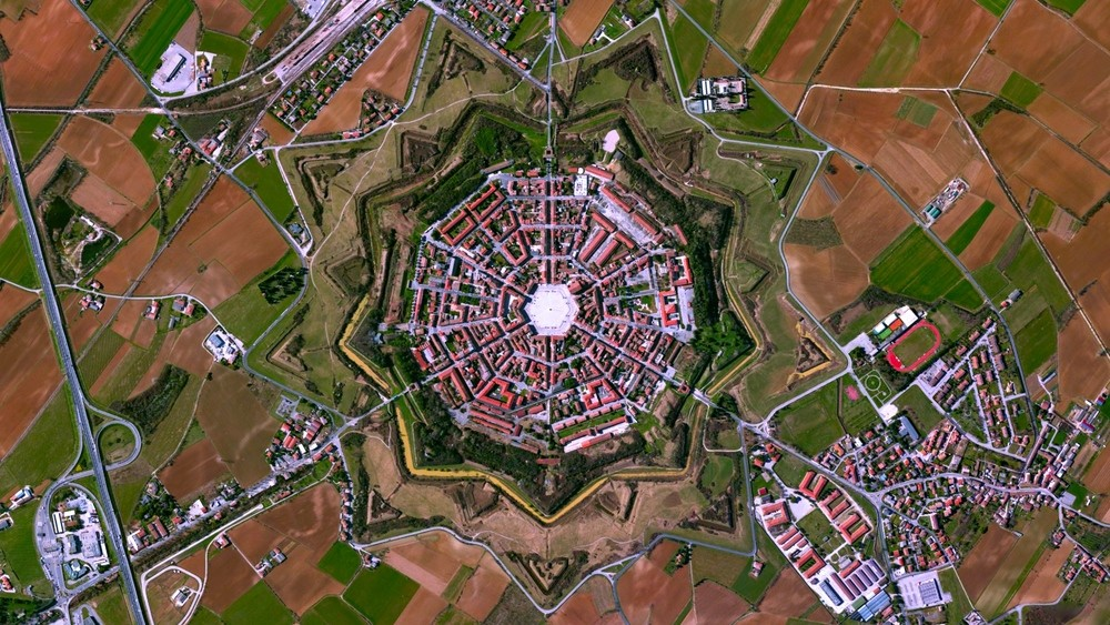 Palmanova, Italy. Image Courtesy of DigitalGlobe