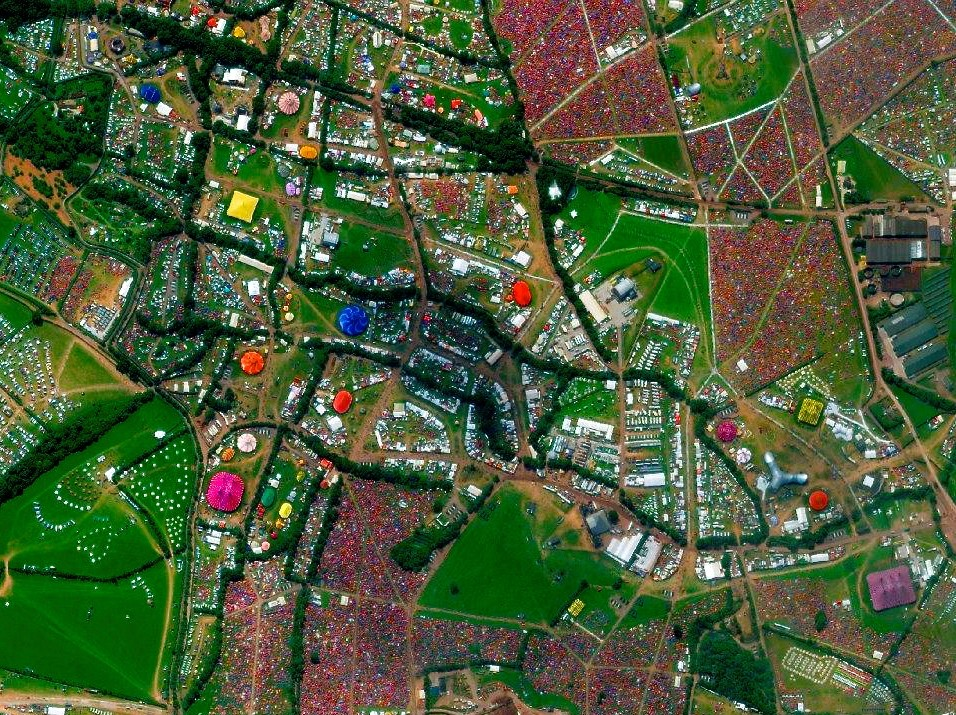 Glastonbury Festival - Pilton, Somerset, England. Image Courtesy of DigitalGlobe