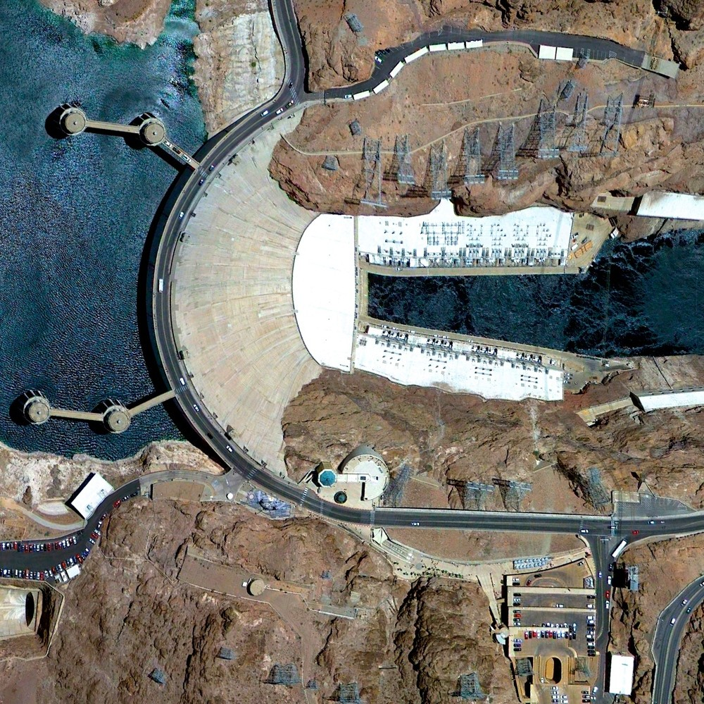 Hoover Dam - Clark County, Nevada / Mohave County, Arizona, USA. Image Courtesy of DigitalGlobe