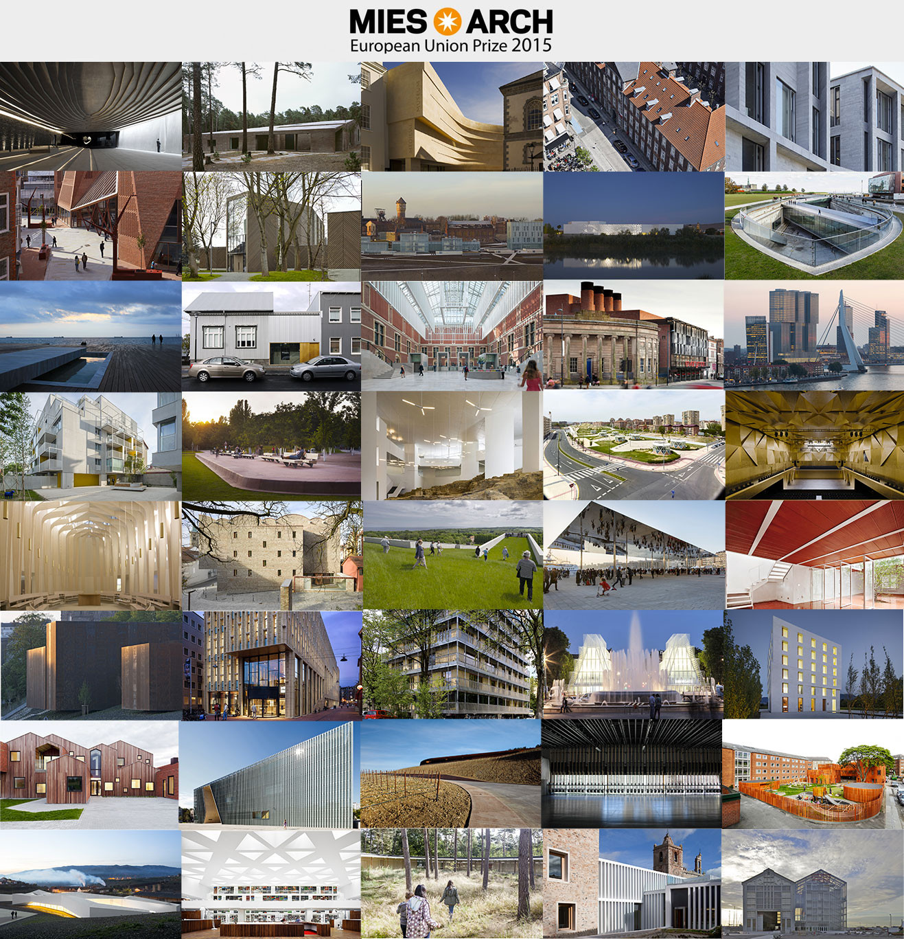 40 Projects Shortlisted for the 2015 EU Prize for Contemporary Architecture – Mies van der Rohe Award