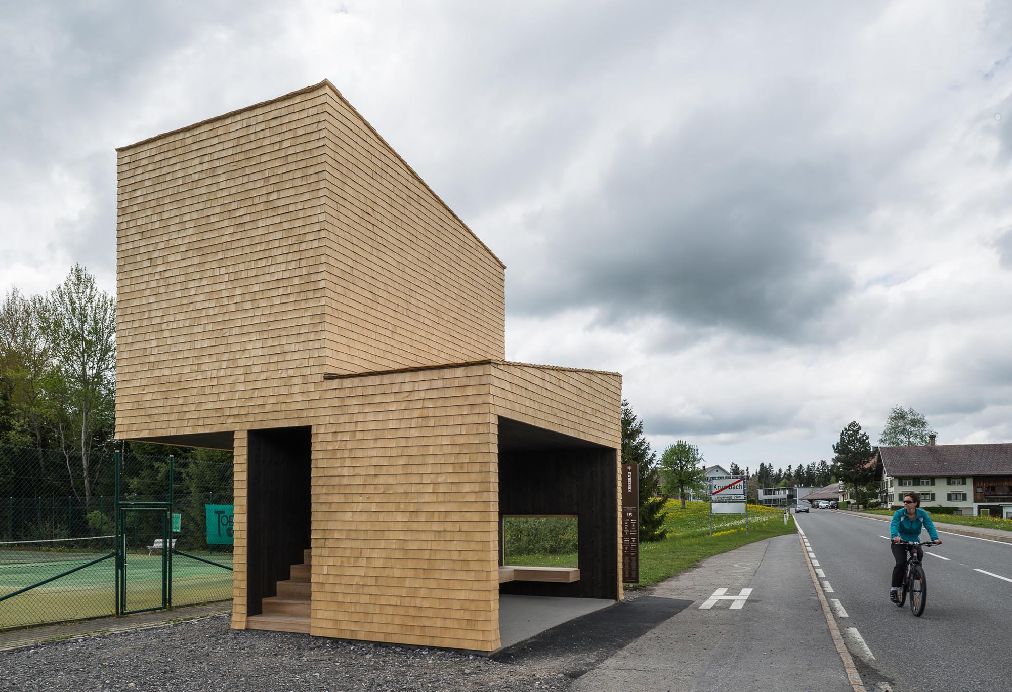 Paradero de buses en Kressbad / Rintala Eggertsson Architects, © Yuri Palmin