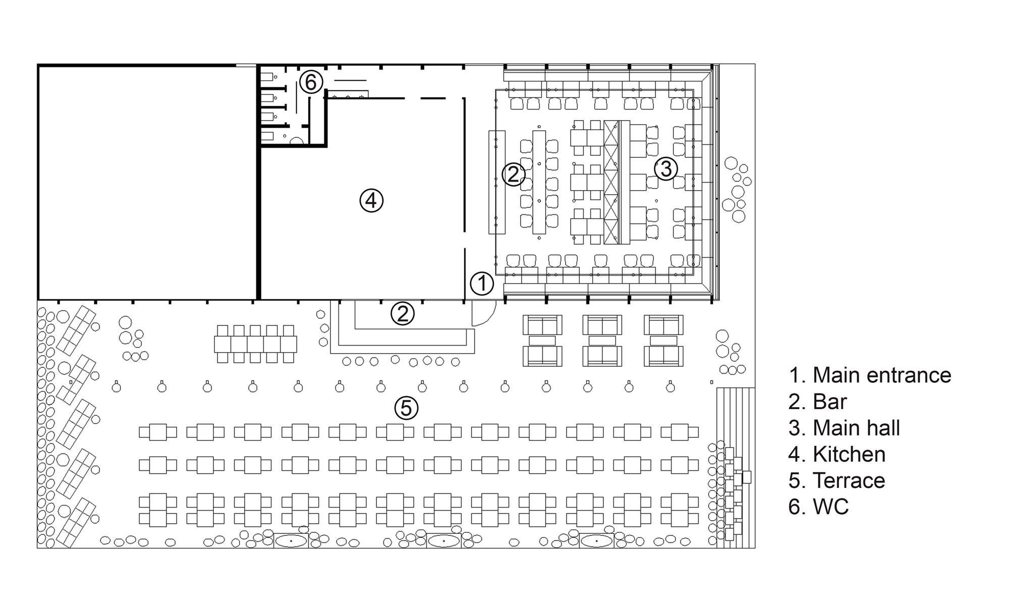Bakery Design Floor Plan Gallery Of Bulka Cafe And Bakery Crosby Studios 15