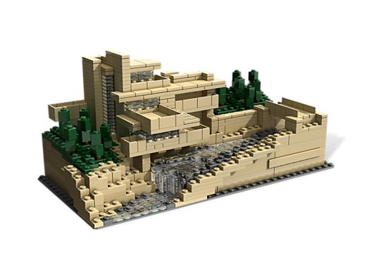La Casa de la Cascada / Frank Lloyd Wright. Image © © LEGO
